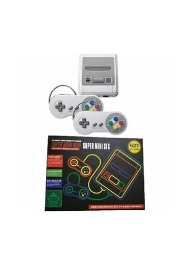 Mini Retro Tv Oyun Konsolu Nes 9Bit Klasik 621 Yüklü Oyunlar Hdmı+2 Pads Xmas Hedıye Renkli